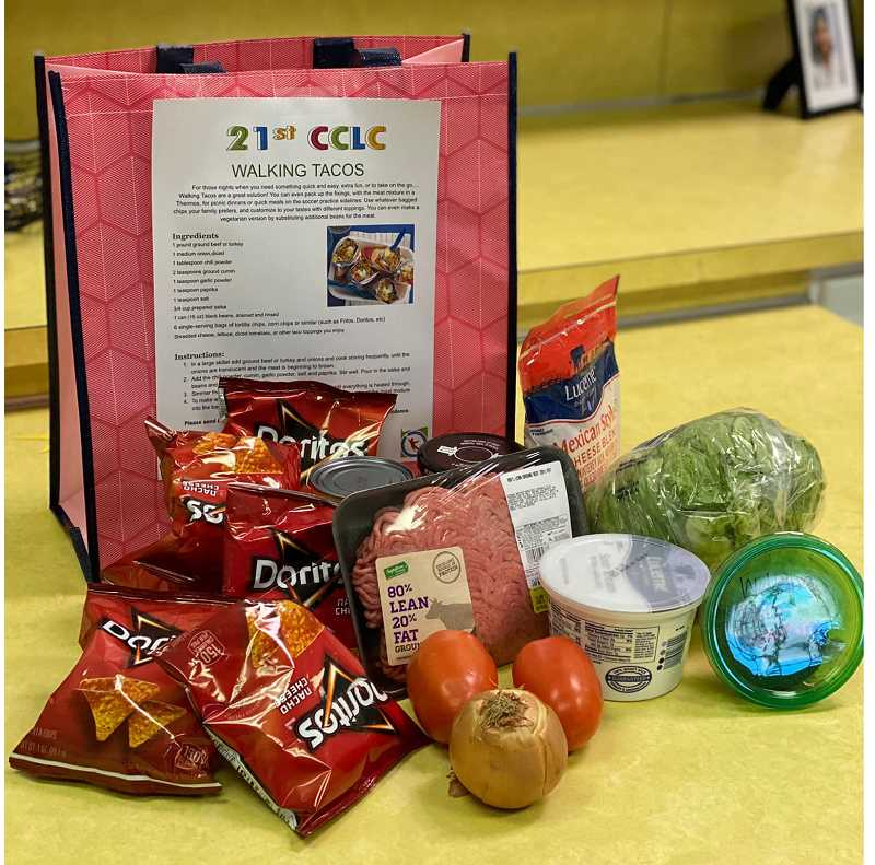 PHOTO COURTESY OF JEFFERSON COUNTY COMMUNITY LEARNING CENTER - Students made Walking Tacos with this Cooking Dreams food kit.
