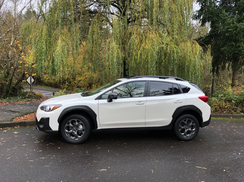 PMG PHOTO: JEFF ZURSCHMEIDE - The 2021 Subaru Crosstrek Sport is a new model of the compact crossover that features a larger 2.5-liter engine that improves overall drivability in all conditions.
