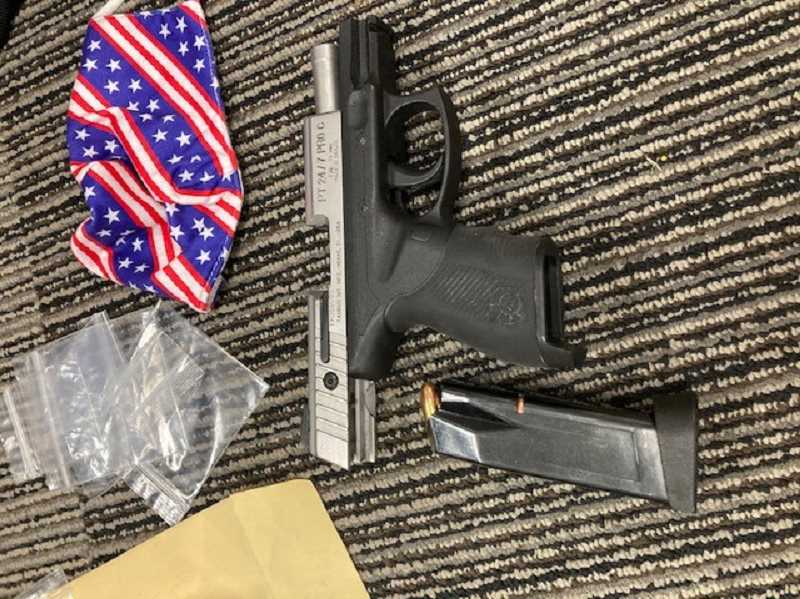 COURTESY PHOTO: CITY OF MILWAUKIE - Police said they confiscated this firearm from Michael David Douglas Mason after a hit-and-run crash on Jan. 8.