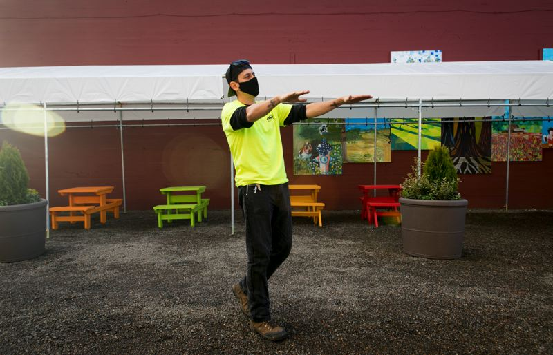 PMG PHOTO: JAIME VALDEZ - Larry Riviera says people can expect four or five food carts at 'Carts on Main' when the food cart pod fully opens in downtown Hillsboro this spring.