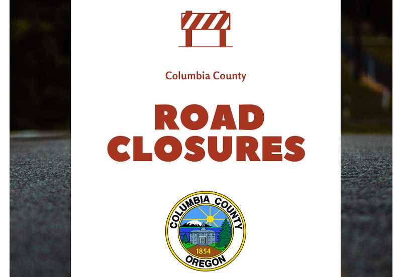 Columbia County roads closed by downed trees