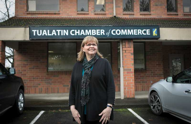 PMG PHOTO: JAIME VALDEZ - After more than 12 years with the Tualatin Chamber of Commerce, Linda Moholt is retiring from her position. She hopes to travel and do volunteer work.