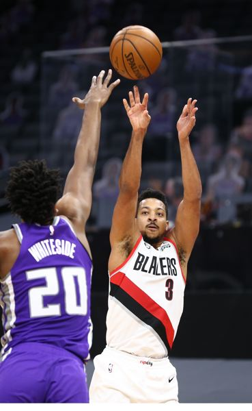 COURTESY PHOTO: BRUCE ELY/TRAIL BLAZERS - CJ McCollum had another big game Wednesday. (Teammates will probably forgive him for his one turnover; Damian Lillard had none).