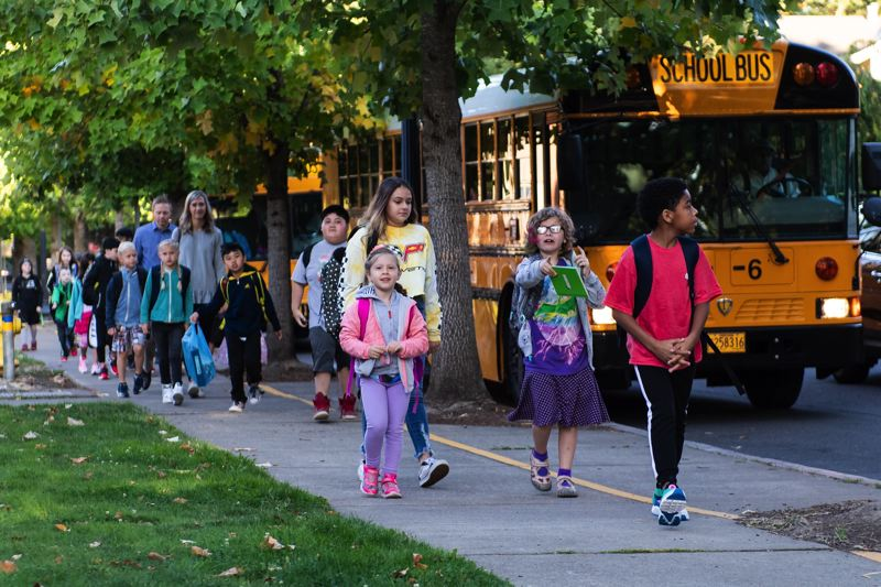 PMG FILE PHOTO - The first day of elementary school in Hillsboro in September 2018 — a day that looked very different this past September as schools have largely remained closed for in-person instruction.