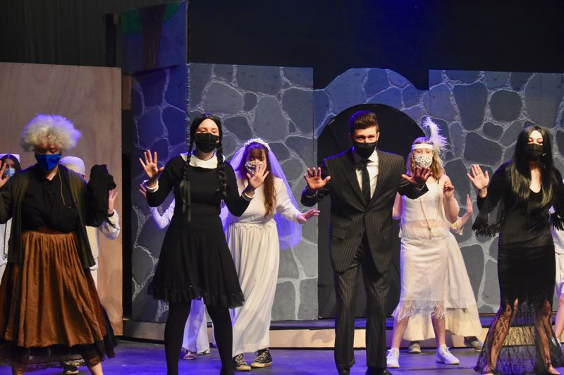PMG PHOTO: EMILY LINDSTRAND - Estacada High School's production of 'The Addams Family' includes many dance numbers.