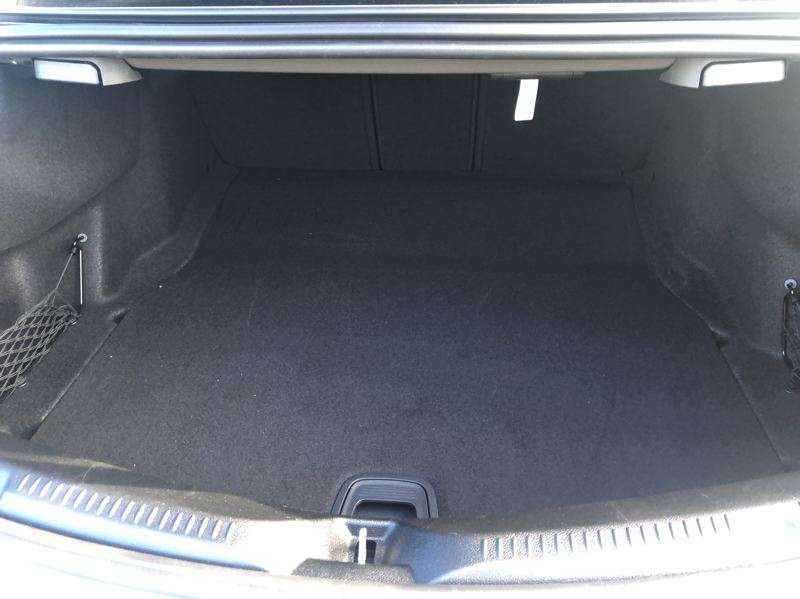 PMG PHOTO: JEFF ZURSCHMEIDE - The trunk in the 2021 Mercedes E450 offers more thanenough space for long road trips.