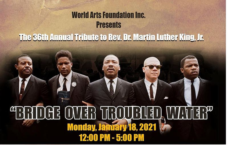 COURTESY PHOTO: WORLD ARTS FOUNDATION - The poster for the 36th annual Tribute to Martin Luther King Jr.