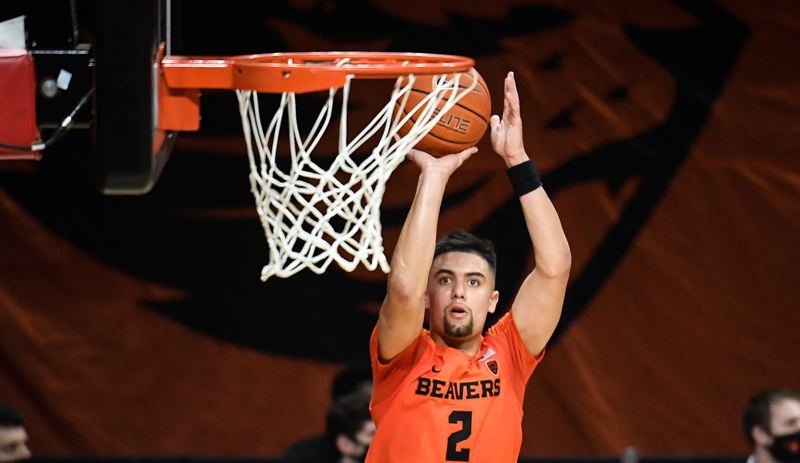 COURTESY PHOTO: KARL MASDAAM/OSU ATHLETICS - Jarod Lucas led Oregon State with 18 points in a 80-79 win over Arizona State on Jan. 16 at Gill Coliseum in Corvallis.