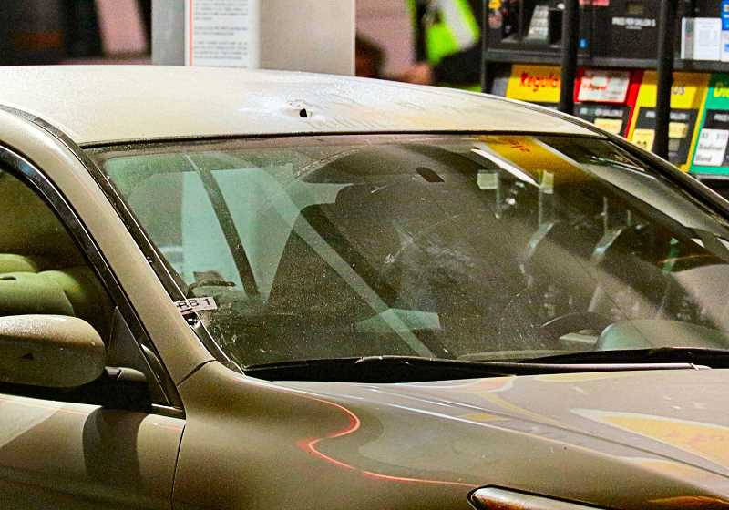 DAVID F. ASHTON - In November, a drive-by shooting at a gas station on S.E. 82nd Avenue of Roses left a car riddled with bullet holes - and a man wounded.