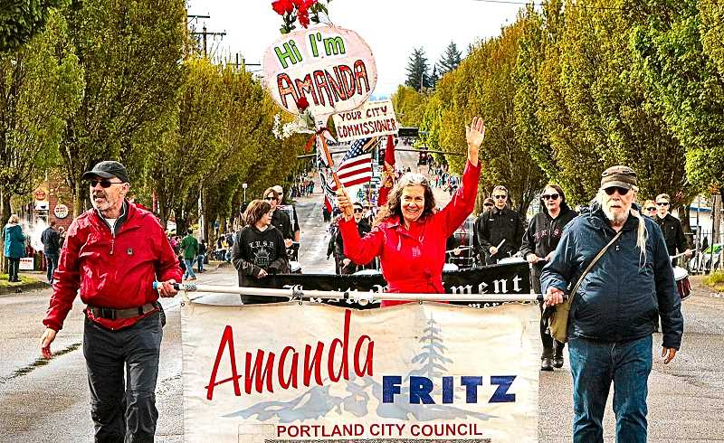 DAVID F. ASHTON - Commissioner Amanda Fritz appeared, in 2019, in the 82nd Avenue of Roses Parade.