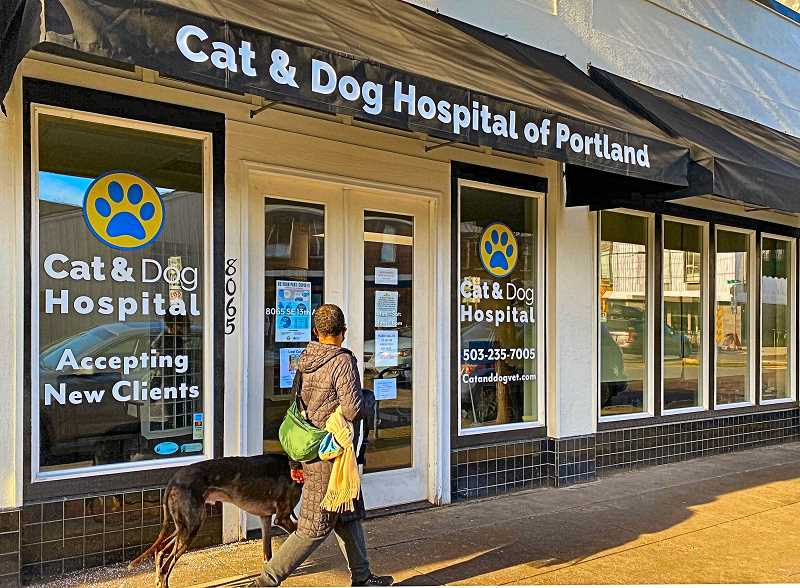 PAIGE WALLACE - Its a new name and signage for Sellwoods once feline-only veterinary clinic on S.E. 13th Avenue - which is now accepting canine patients, too.