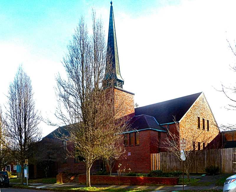 EILEEN G. FITZSIMONS - The 1950 Nazarene Church between S,E, Milwaukie and 17th at Lambert Street is to be the site of 85 new apartments, spread over three new buildings.