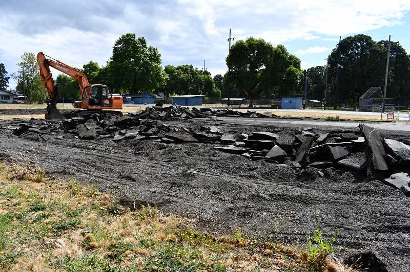 Campbell Park in St. Helens is awaiting new tennis and basketball courts