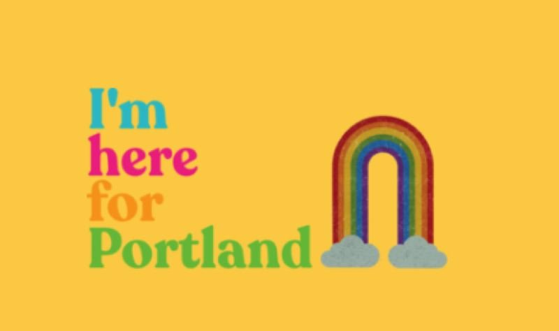 COURTESY HERE FOR PORTLAND - The Here for Portland logo.