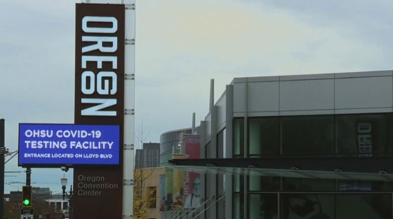 KOIN 6 NEWS - A mass vaccination site opened at the Oregon Convention Center on Wednesday.