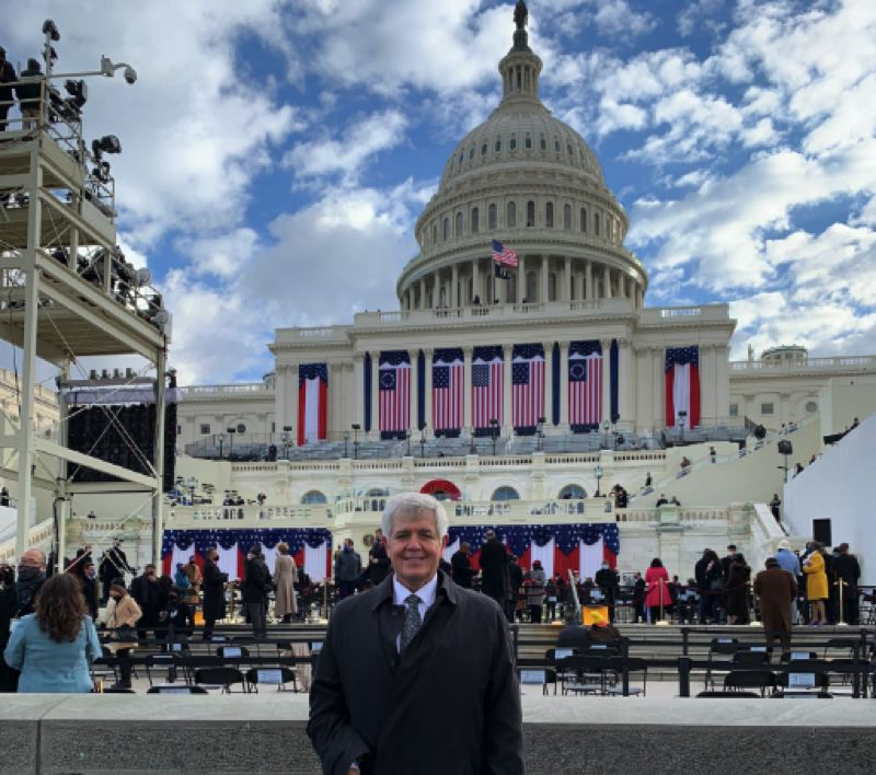 PHOTO - Congressman Cliff Bentz, an Oregon Republican, attended the inauguration ceremony for President Joe Biden and Vice President Kamala Harris on Wednesday, Jan. 20.