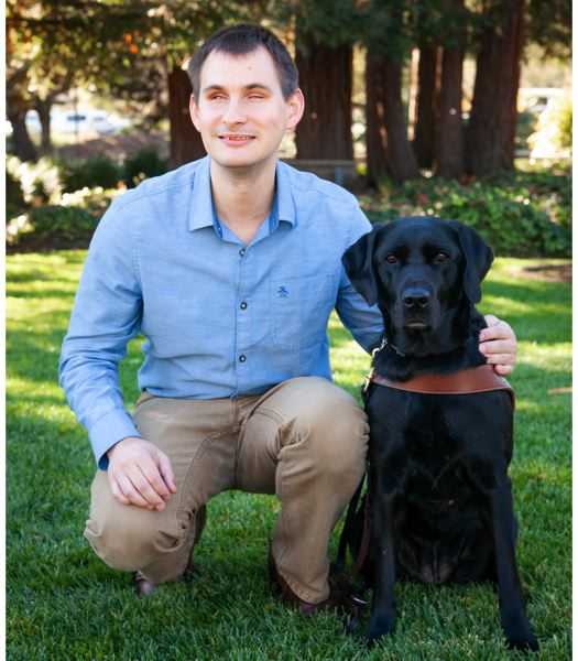 COURTESY PHOTO: GUIDE DOGS FOR THE BLIND - Jake Koch is an outreach specialist for Guide Dogs for the Blind in Boring and has firsthand experience navigating the pandemic with a guide dog.