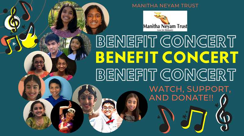 COURTESY PHOTO: JANANI MAHESWARAN  - A flier for the benefit concert organized by Westview High School student Janani Maheswaran and her cousin. The event was held on Jan. 3.