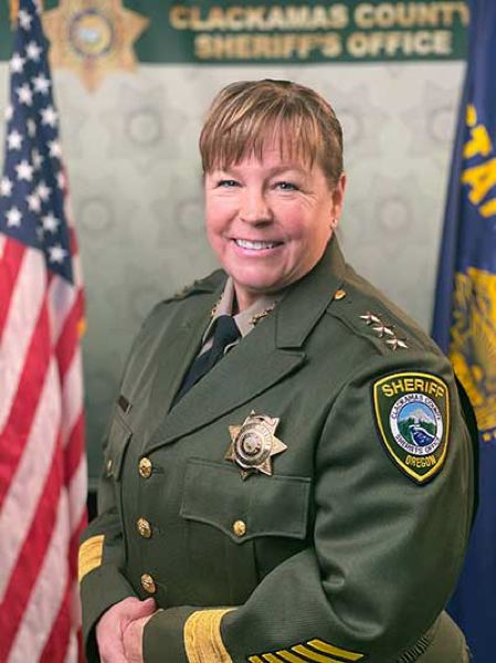 PHOTO COURTESY OF CCSO - Clackamas County Sheriff Angela Brandenburg is the first woman elected to serve the county as sheriff.