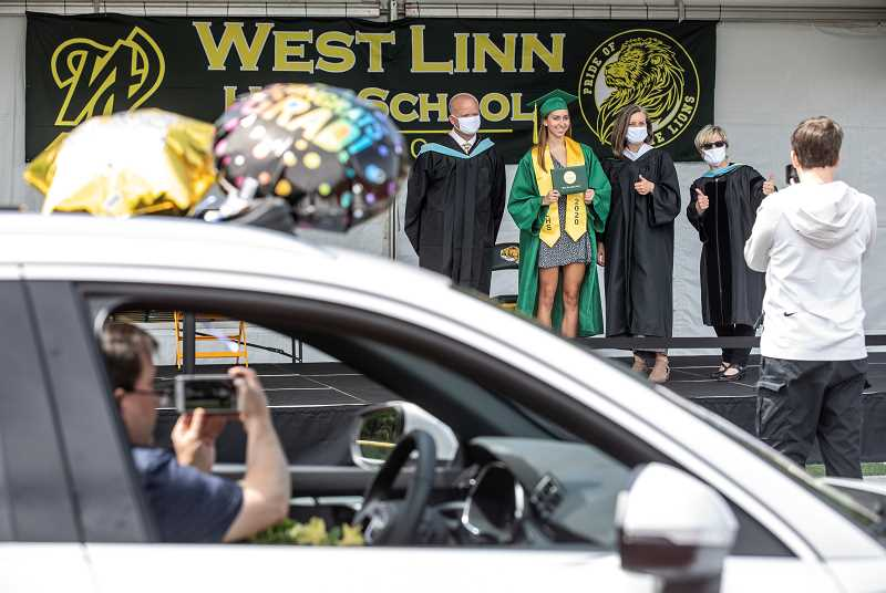 PMG FILE PHOTO - West Linn High School's graduation rate for 2019-20 was 98%.