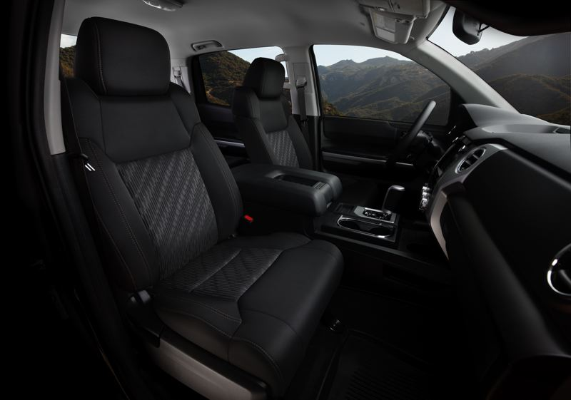 COURTESY TOYOTA - There is plenty of room in the 2021 Toyota Tundra, and the front seats are comfortable enough for work or long trips (Trail Edition shown here).
