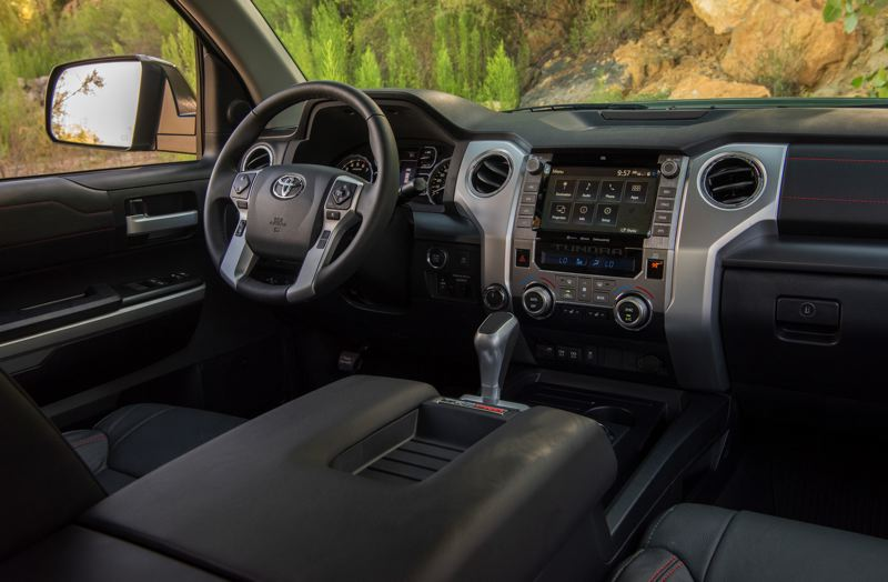 COURTESY TOYOTA - The layout of the 2021 Toyota Tundra is simple and efficient, with large climate control knobs that can be operated with work gloves.