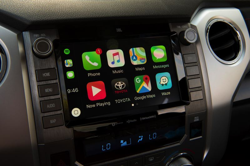 COURTESY TOYOTA - The display screen in the 2021 Toyota Tundra is not the biggest on the market, but  it is large enough and easy to use.
