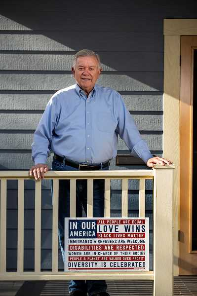 PMG PHOTO: JAIME VALDEZ - Tom Potter, former Portland mayor and retired Portland Police Bureau chief, at his home in Southeast Portland.