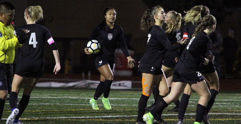 PMG PHOTO: MILES VANCE - Tualatin's Cally Togiai scored 18 goals as a junior to lead the Timberwolves to the Three Rivers League title. She decided to forgo her senior season and begin college at University of Portland early.