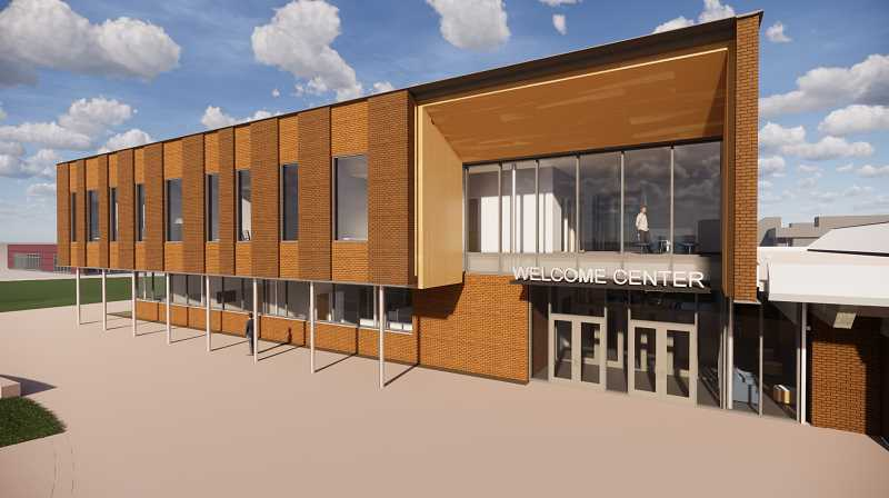 COURTESY PHOTO - An architectural rendering of the Wacheno Welcome Center under construction in Oregon City.