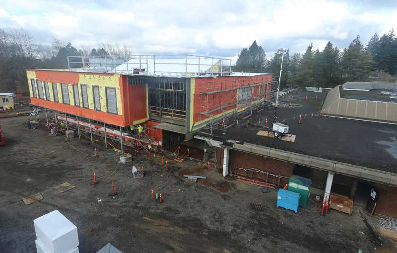 COURTESY PHOTO - Construction of the Wacheno Welcome Center is underway at Clackamas Community College.