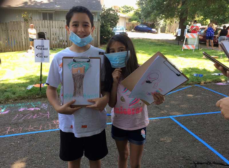COURTESY PHOTO: CITY OF TUALATIN - Young people who attended last summer's open houses drew illustrations of the type of features they want to see when Stoneridge Park gets a facelift.