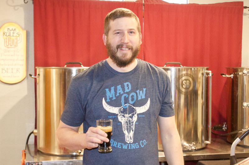 PMG PHOTO: CHRISTOPHER KEIZUR - Jason Blair, founder of one of Greshams smallest breweries, is opening a taproom for MadCow Brewing Company this spring.