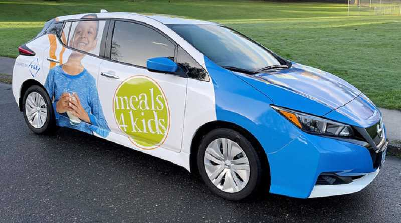 COURTESY PHOTO - A Meals on Wheels electric vehicle supporting the Meals 4 Kids program was purchased with a Drive Change Fund award.