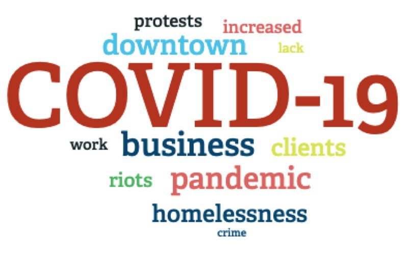 COURTESY DOWTOWN PORTLAND CLEAN & SAFE - A graphic presentation of the problems facing downtown from the Downtown Portland Clean & Safe survey.