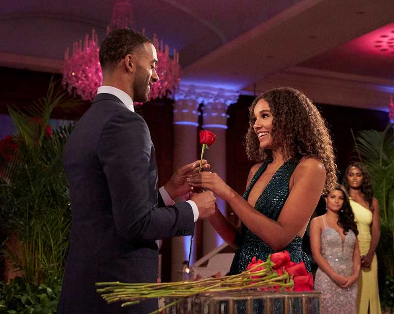 COURTESY PHOTO: ABC - Pieper James earns the coveted rose from bachelor Matt James on Season 25 of 'The Bachelor.'