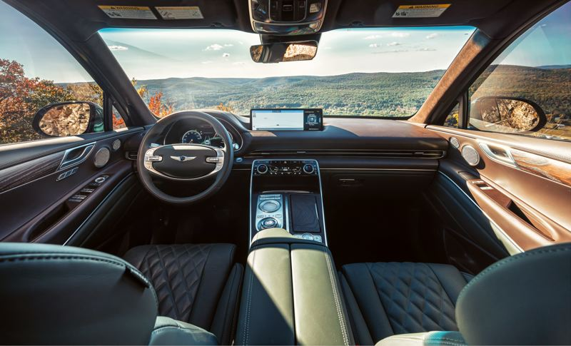 COURTESY GENESIS - The interior of the 2021 Genesis GV80 rivals the most luxurious crossovers in the world.