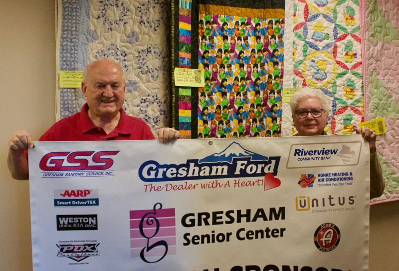 PMG PHOTO: CHRISTOPHER KEIZUR - Paul Nasiatka and Terry Ann Pullen are working hard to find municipal and corporate partnerships to uplift the Gresham Senior Center.