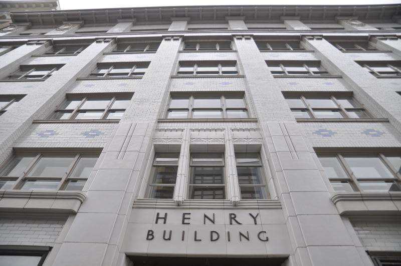 VIA CENTRAL CITY CONCERN: JOSH PARTEE PHOTOGRAPHY - The facade of the Henry Building in downtown Portland is shown here.