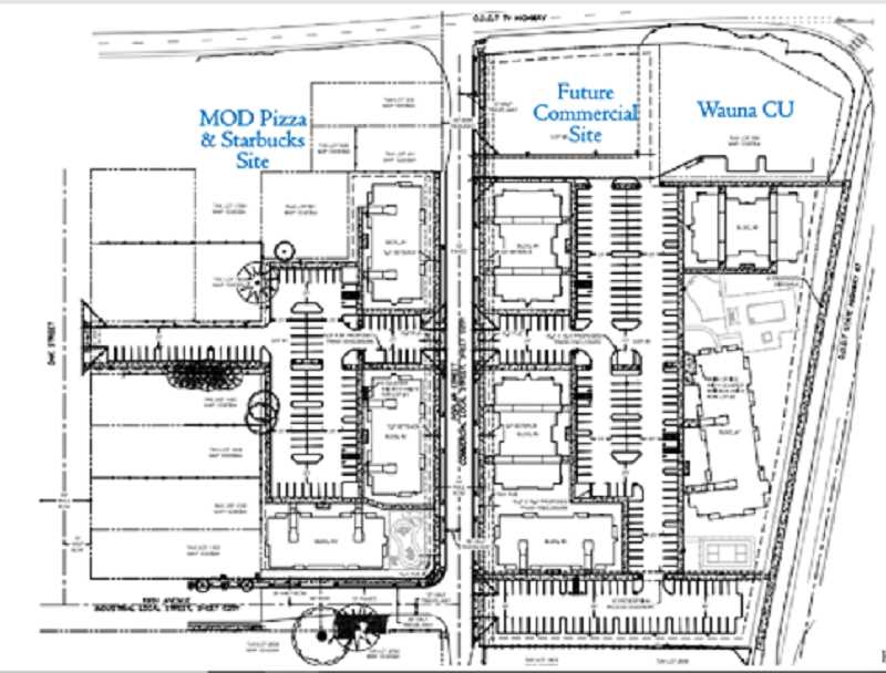 COURTESY PHOTO - A site map of The Reserve at Fernhill apartment complex being constructed in Forest Grove near the corner of Pacific Avenue and Highway 47.