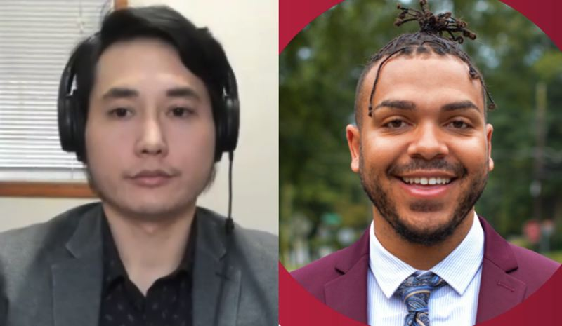 FILE PHOTOS - FROM LEFT: Andy Ngo and Gregory McKelvey