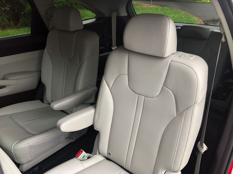 PMG PHOTO: JEFF ZURSCHMEIDE - The 2021 Kia Sorento Hybrid is available with a 6-passenger configuration with individual seats in the second row, and a two-seat third row.
