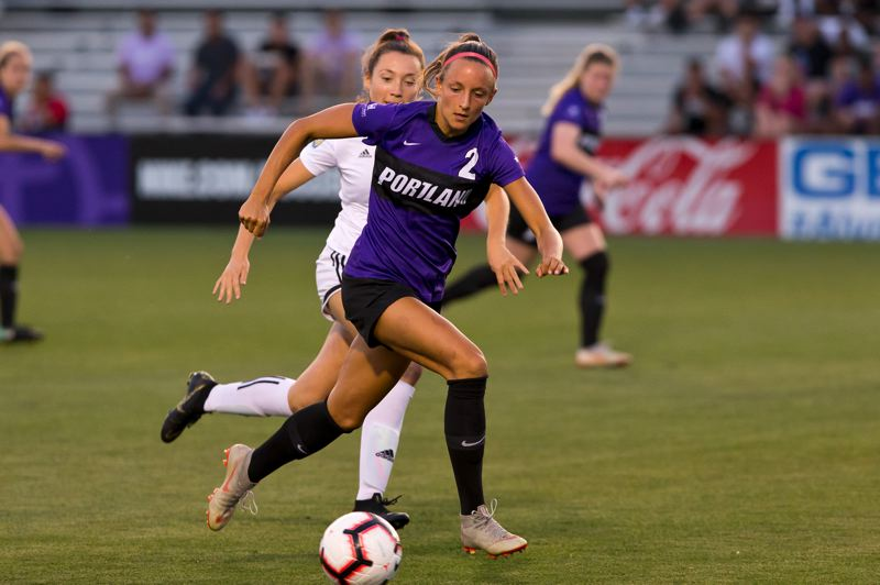 COURTESY PHOTO: UP ATHLETICS - Senior forward Taryn Ries (2) is a preseason all-West Coast Conference selection who has 24 goals and eight assists through three seasons (56 games) for the Pilots.