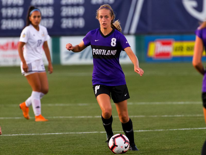 COURTESY PHOTO: UP ATHLETICS - Senior midfielder Jaime Rita (8) started 16 games in 2019 and had a goal and assist for the Pilots after transferring from Washington State.