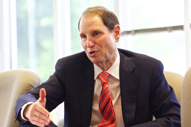 PMG FILE PHOTO - U.S. Sen. Ron Wyden speaks at a press conference in 2015.