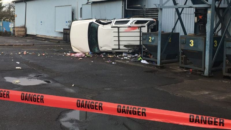 COURTRESY PPB - Scene of a crash in the 2700 block of Northwest Yeon Avenue.
