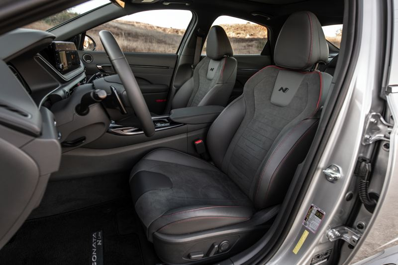 COURTESY HYUNDAI - The special sport bucket seats are unique to the 2021 Sonata N Line.