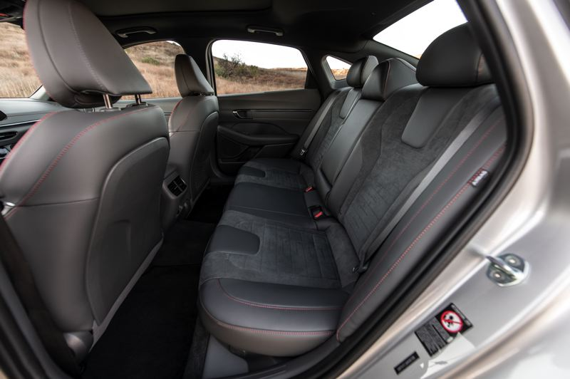 COURTESY HYUNDAI - There is plenty of roon in the rear seats of all models of the 2021 Sonata.