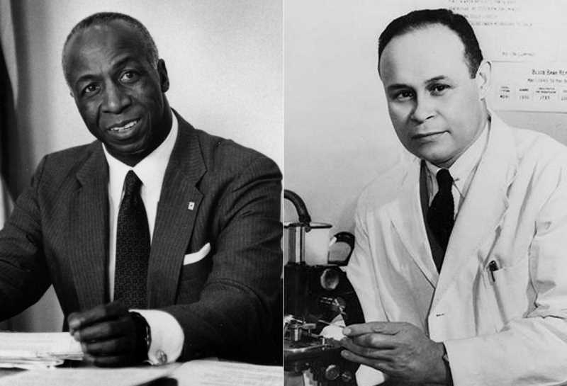 COURTESY PHOTOS - Drs. Jerome Holland and Charles Drew helped improve the lives of patients in need of lifesaving blood through their work with the American Red Cross.
