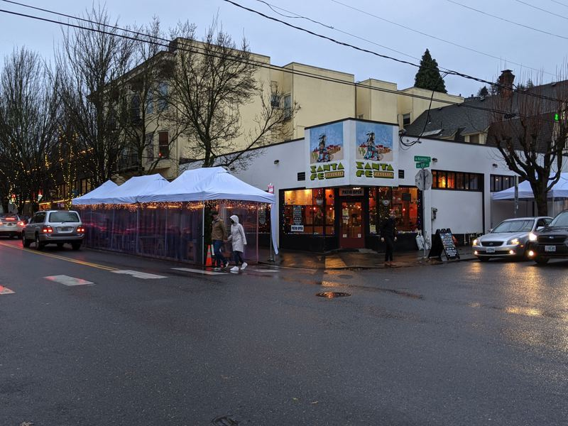 PMG PHOTO: JOSEPH GALLIVAN - Many restaurants have increased outdoor dining to survive. Under new rules, Clackamas, Multnomah and Washington counties will allow limited indoor dining to resume for as long as new infections stay relatively low.